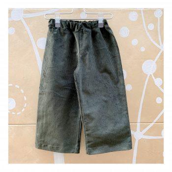 Pantalone-W19 OLIVA-Giro Quadro